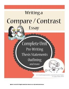 compare contrast essay complete unit - Compare And Contrast Essay Thesis Example