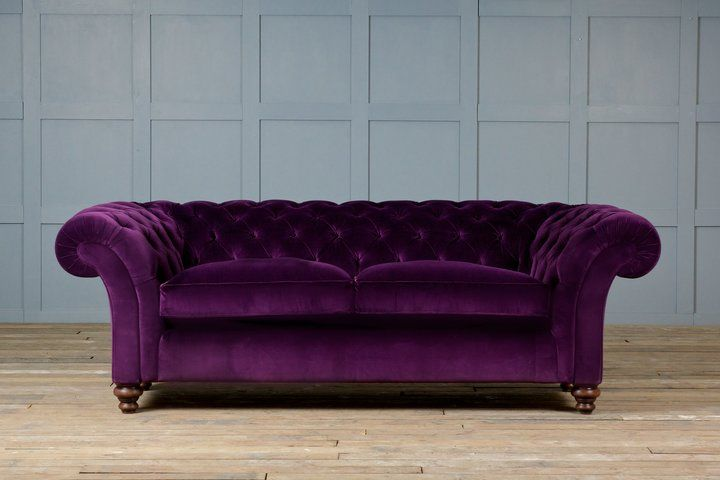 Aubergine Couch Google Search City Apartment Pinterest Sofa Fabric Chesterfield And