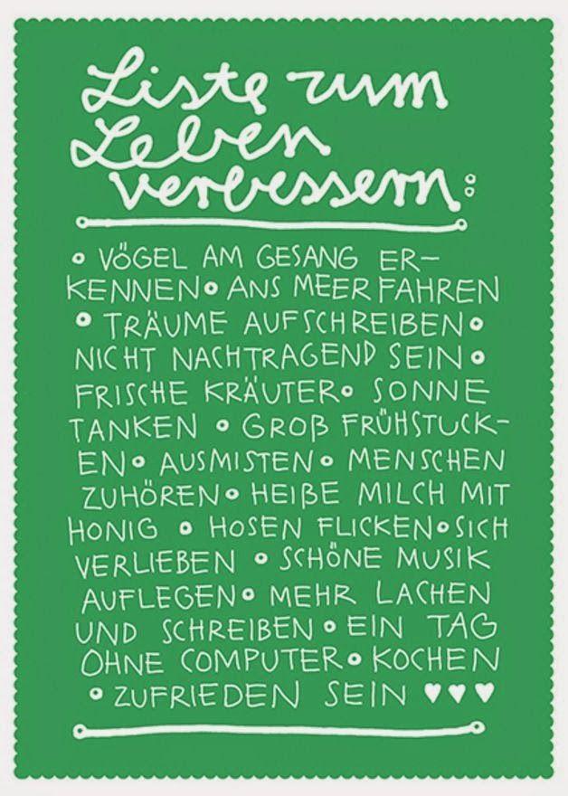 Eine kleine Deutschkiste: Liste zum Leben verbessern
