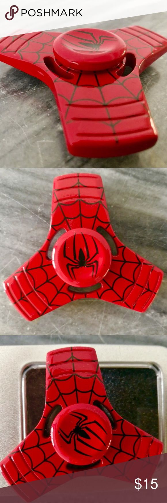 Sy tools custom producing hand spinner torqbar alec bass shells 50 66 - Red Spider Man Metal Alloy 3 Wing Fidget Spinner Brand New Comes In Case Accessories