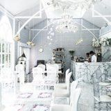 This Monochromatic Cafe in Thailand Is a Real-Life Fairy Tale