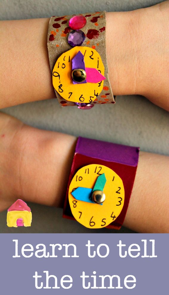 Learn to tell the time clock craft