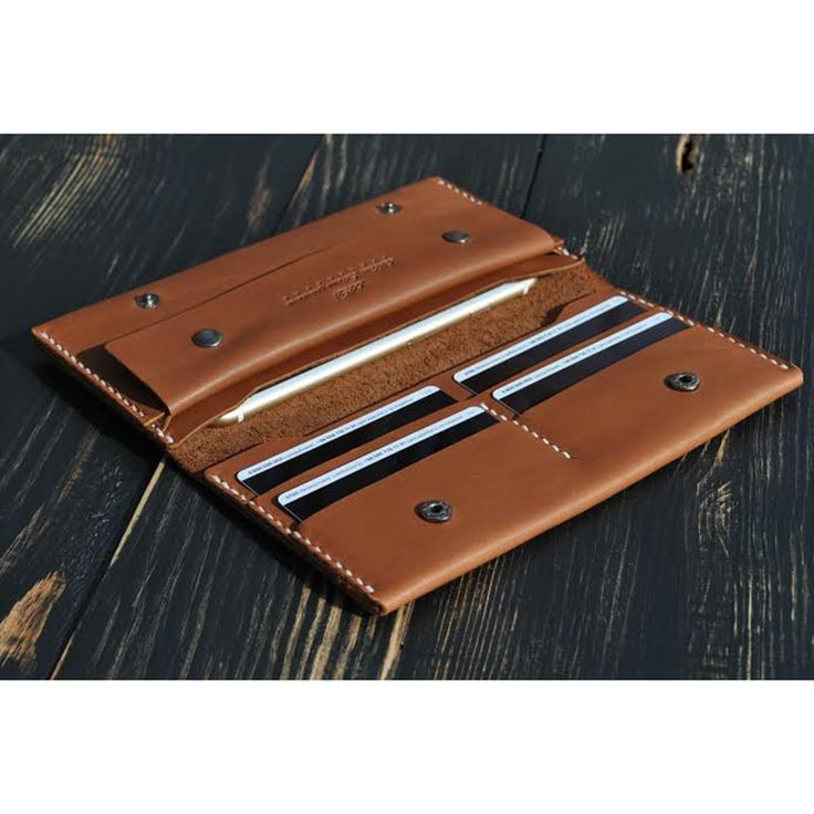 Портмоне кожаное Brown leather