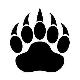 Bear Paw Print Silhouette