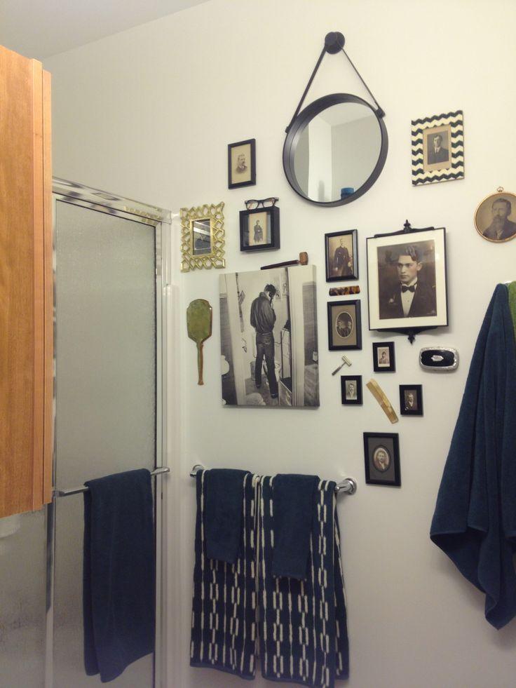 Modern Vintage Hipster Mens Grooming Bathroom Decor Home Stuff Pinterest Bathrooms