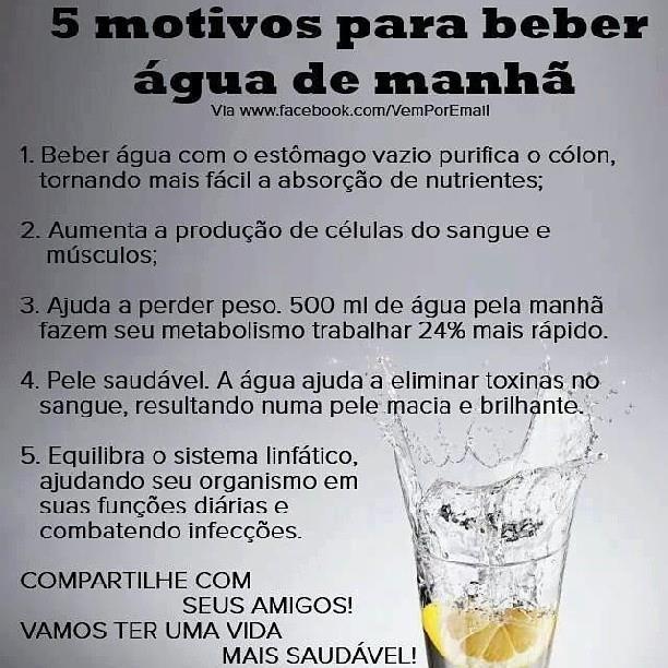 Beba água de manhã! | Saúde - TudoPorEmail