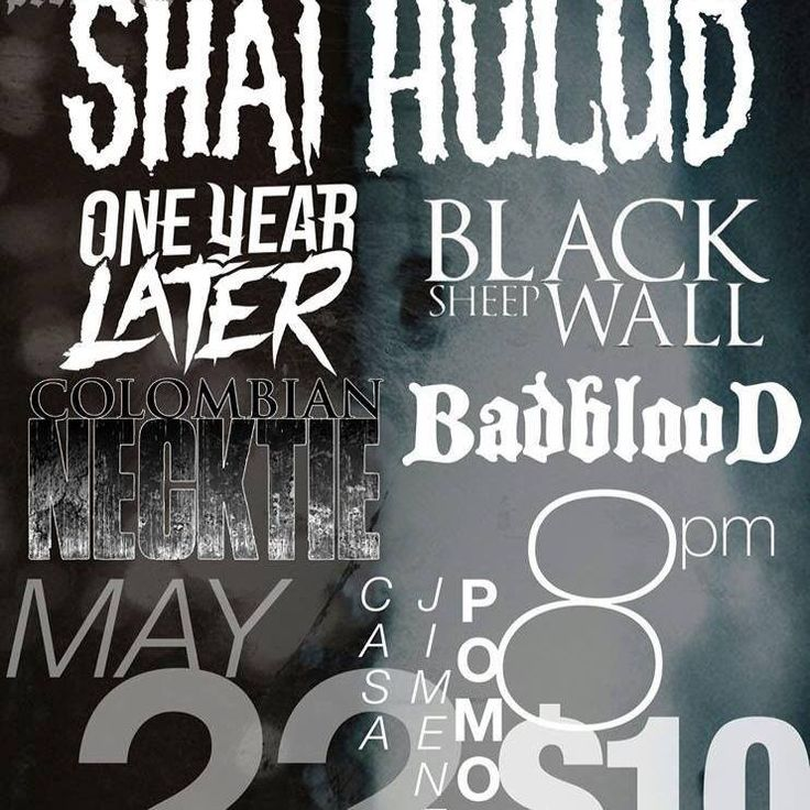 Badblood, Black Sheep Wall, Colombian Necktie - Pomona 2014