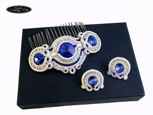Pracownia Uroczy Dar: Biżuteria ślubna; grzebień do włosów; biżuteria ze Swarovskim