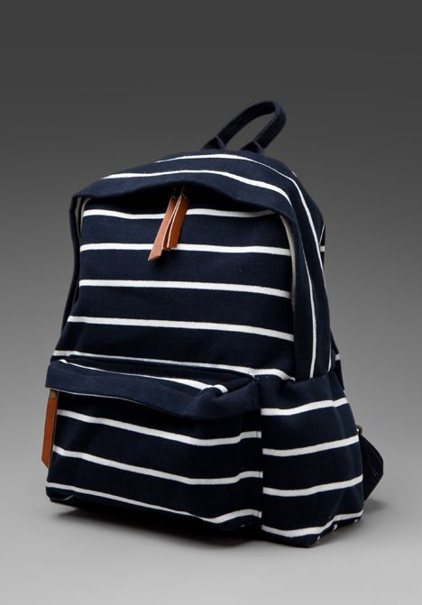 BRANDY MELVILLE  Add To Boutique  Striped Back Pack in Navy/White