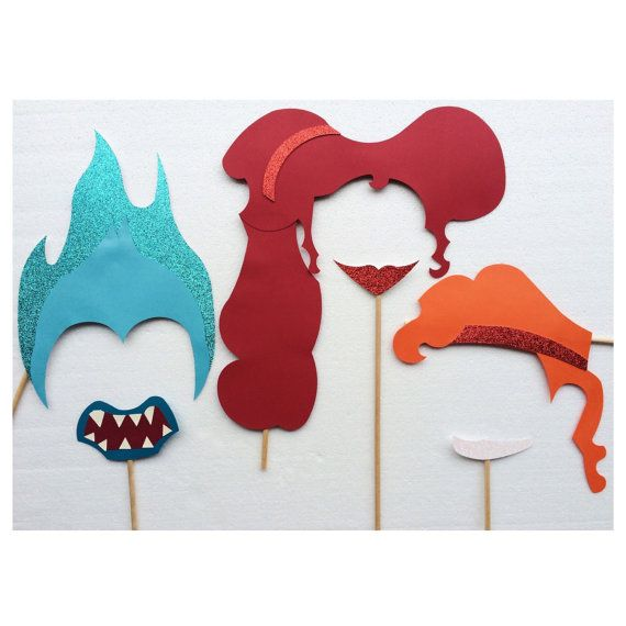 Hercules Inspired Photo Booth Props ; Disney Birthday Party ; Disney Wedding ; Boy Birthday Party by LetsGetDecorative