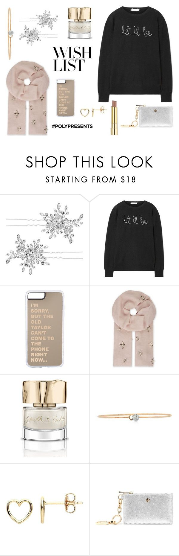 """""""#PolyPresents: Wish List"""" by picassogirl ❤ liked on Polyvore featuring Matthew Williamson, Lingua Franca, Janavi, Smith & Cult, Phillips House, Estella Bartlett, Tory Burch, Stila, contestentry and polyPresents"""