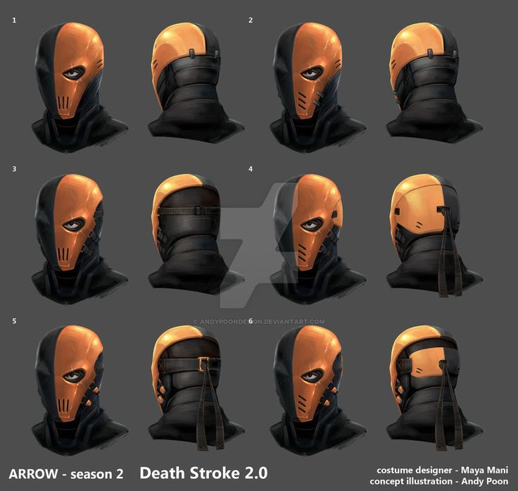 Arrow season 2  Deathstroke mask development