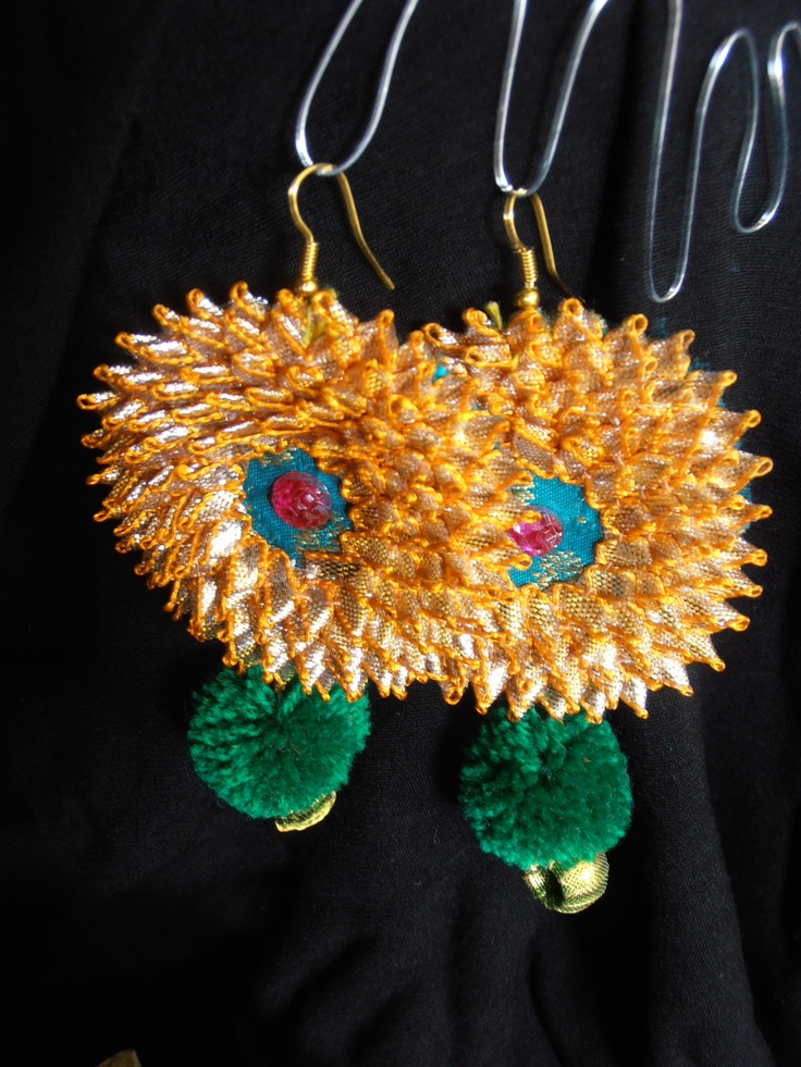 ear hangings, gota jewelry