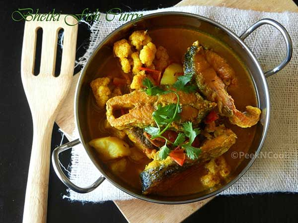 Bhetki Fish Or Barramundi Perch With Cauliflower & Potato Curry
