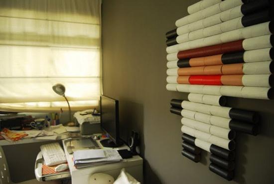 Reciclar tubos de papel de baño