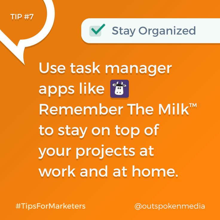 Every marketer should use a task manager app for organization #tipsformarketers #marketingtools #taskmanagerapps
