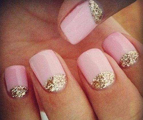 Prom Short Nail Designs | Download glitter-gold-pink-prom-nail-designs