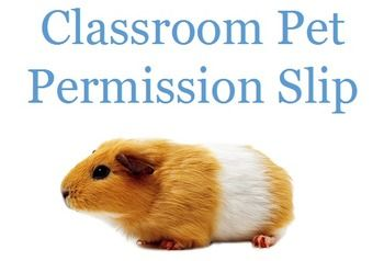 If you have classroom pets, it's best to have students and parents sign a classroom pet permission slip at the start of the year. Students often want to hold and care for certain types of pets and to ensure parent permission and student understanding of rules, this permission slip will keep you covered.
