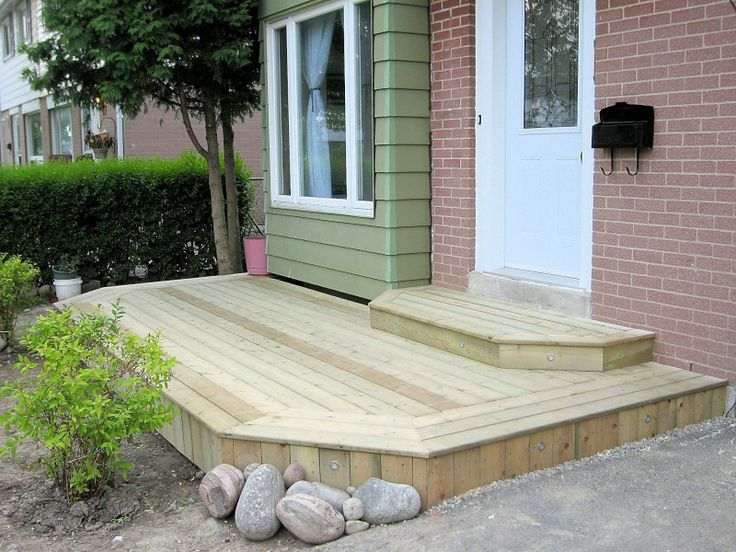 29 best images about wood porch step on pinterest decks for Front door steps ideas