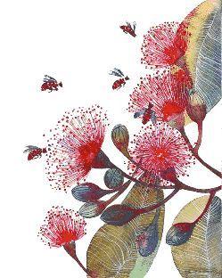 esquema de punto de cruz para descargar en pdf, imprimir y bordar dibujo de flores y abejas