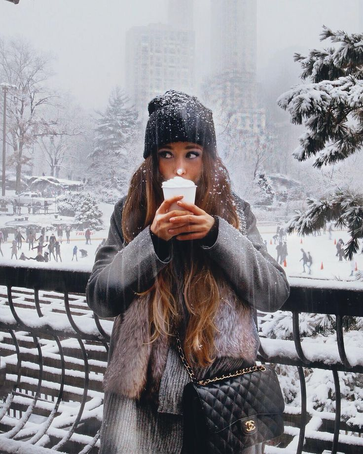 Great photo. Love that she is enjoying the snow and cold. ##snow #winter