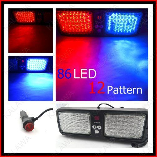 ==> [Free Shipping] Buy Best 1lot 20pcs/lot 12 flash patterns 86 LED flash light /Warning light/LED strobe light 12V/5W Multi-color 52018 FFF freeshipping Online with LOWEST Price | 1572352761