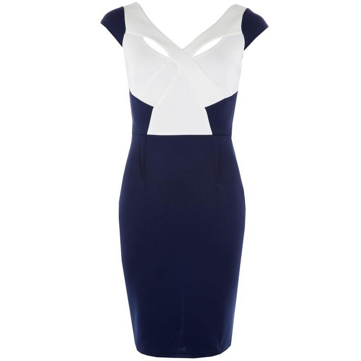 Women | Navy Womens Cut Away Shift Dress | Get The label