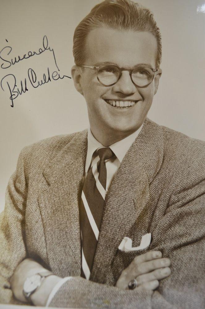 Bill Cullen Autographed Signed B&W Vintage Publicity Photo 1132-9-10