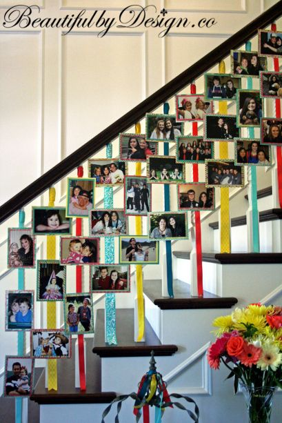 A fun idea to do for a graduation party, etc. rather than a scrapbook!