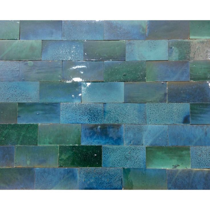 Zellige Tile Turquoise 15cm x 7.5cm