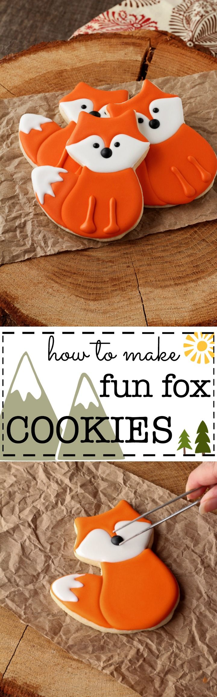How to Make Fun Little Fox Cookies with a Video Tutorial | The Bearfoot Baker