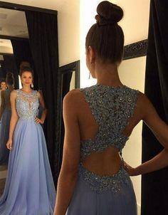 Sexy Jewel Ausschnitt A Line Ombre Chiffon- Spitzen Perlen Maroon Lavendel lange Abschlussball-Kleider 2016 Backless Hofzug Kylie Jenner Kleid                                                                                                                                                                                 Mehr