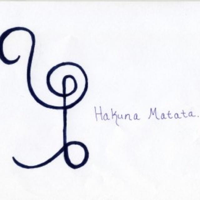 Hakuna Matata African Symbol My Beautiful Tattoos T
