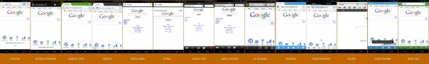 Google sous 14 navigateurs Android différents