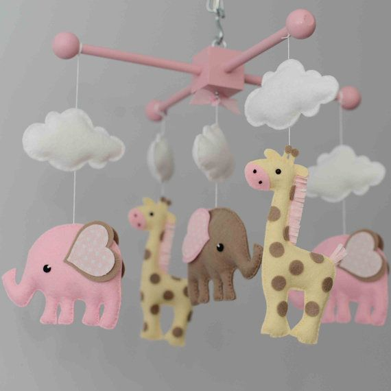 Elephant Mobile Giraffe Mobile Custom Mobile por TayloredWhimsy
