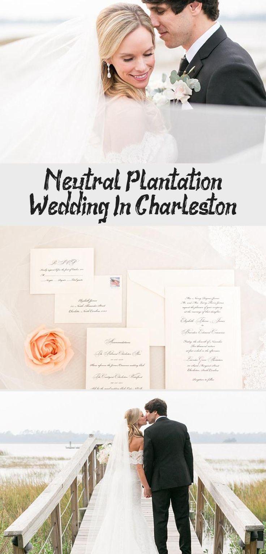 Neutral Plantation Wedding in Charleston - Inspired By This #BridesmaidDresses2019 #BridesmaidDressesWithSleeves #RusticBridesmaidDresses #BridesmaidDressesMidi #LavenderBridesmaidDresses