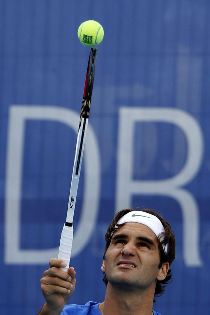 Twitter / WeAreTennis: Roger Federer working on his ...