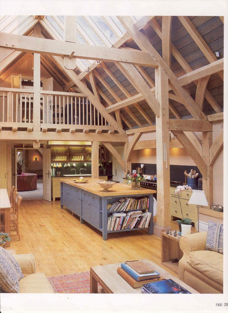 Homebuilding & Renovating Article - stunning kitchen in new house with oak frame design by Roderick James Architects