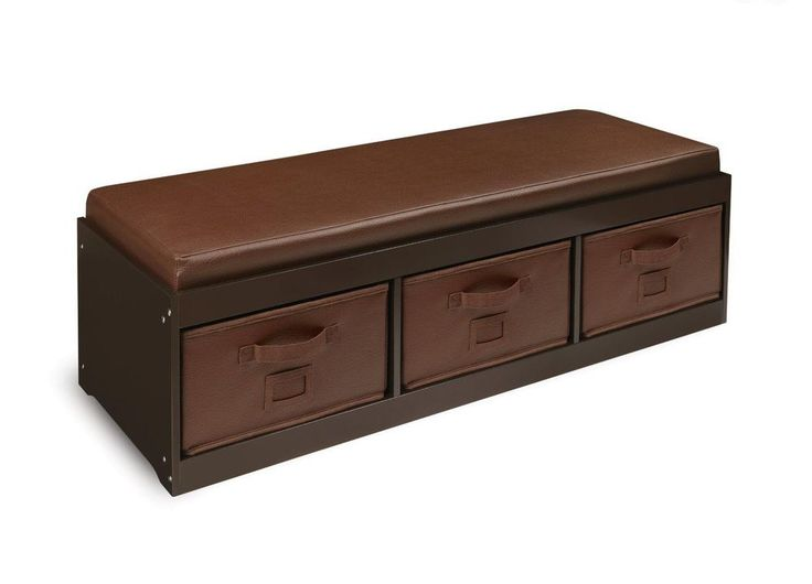 NEW Kids Brown Storage Bench Toy Box Bedroom Toys Play Room 3 Bins Padded Seat #Unknown #Unknown