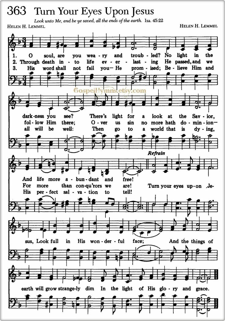 The 876 best Hymns images on Pinterest | Sheet music, Songs and ...
