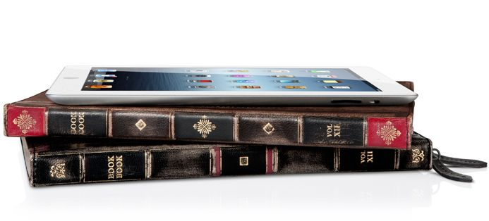 iPad tablet case / cover. Old book style. I would love this old fashioned meets modern technology as a gift. Hint hint