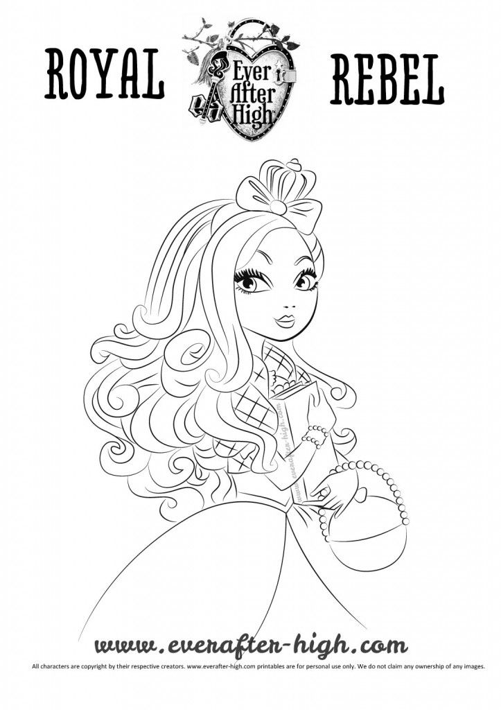 ever after high coloring pages apple white - apple white coloring page ever after high free coloring