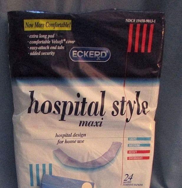 Eckerd 24 (2 dozen) Hospital Style Tabbed Sanitary Napkins with Sanitary Belt