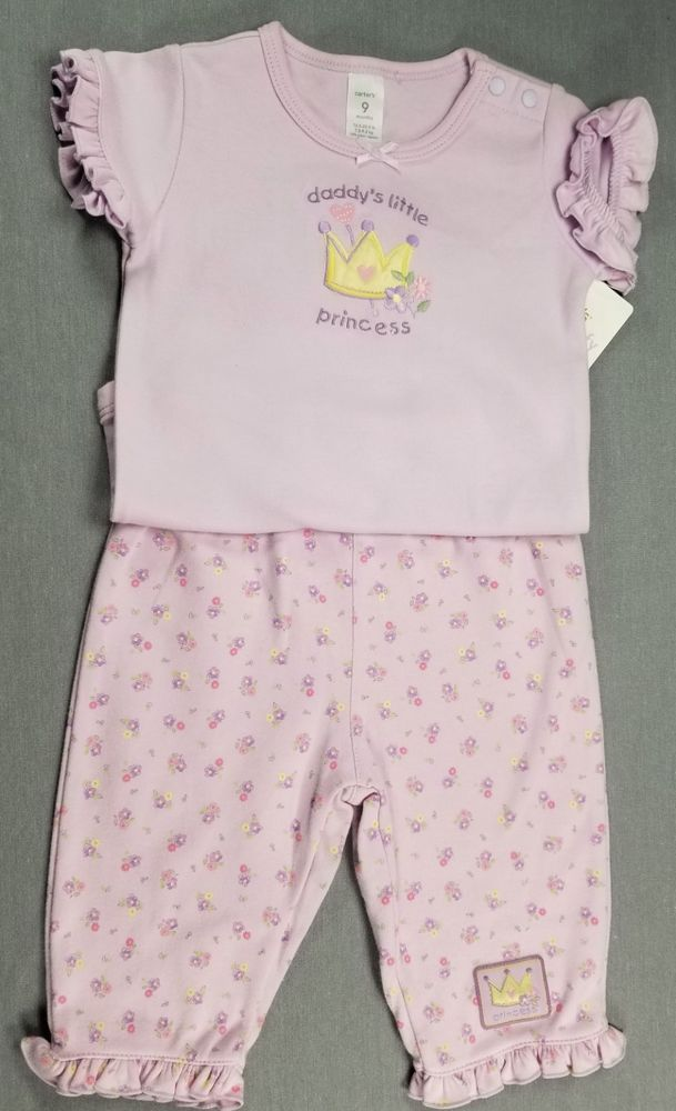 776532afa NEW CARTER S 9 MONTH BABY GIRL 2PC PURPLE DADDY S LITTLE PRINCESS ...