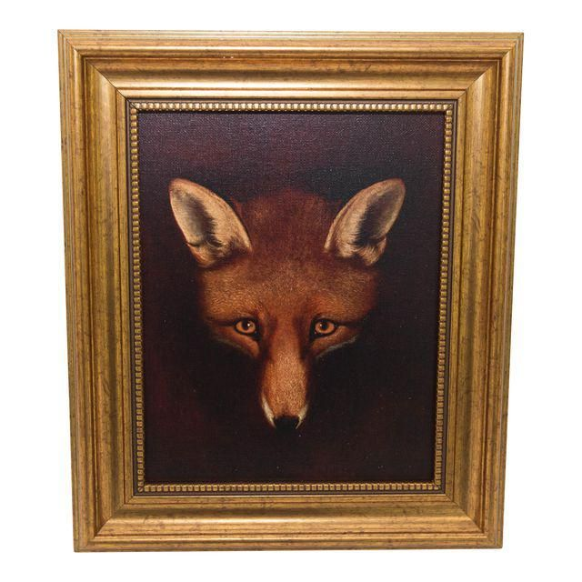 Framed Fox Painting - Image 1 of 3