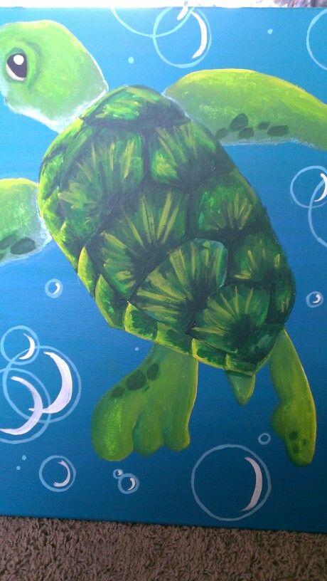 Best 25 turtle painting ideas on pinterest sea turtle for Turtle fish paint