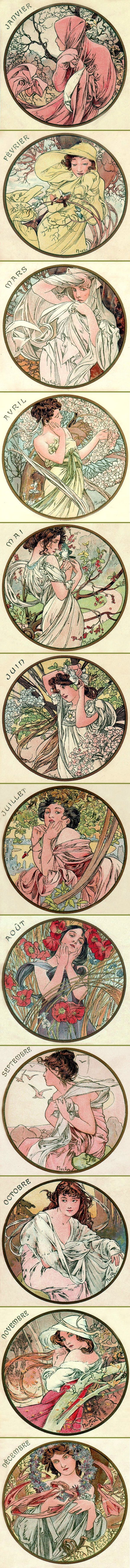 Alphonse Mucha - The Months (1899)