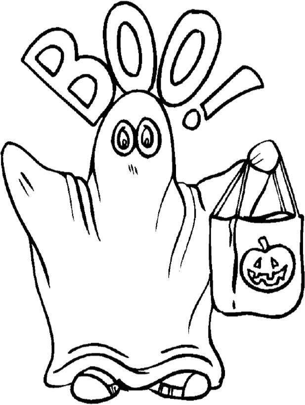 Ghost Halloween Coloring Pages Ghost Coloring Pages Halloween ...