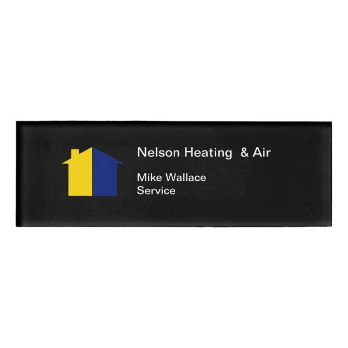 Heating Ac Repair Hot Cold House Design Name Tag Zazzle Com