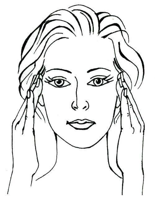 раскраска лицо человека для макияжа муйне обычно